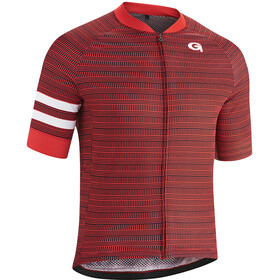 Gonso Cantun Fietsshirt Korte Mouwen Doorlopende Rits Heren, high risk red